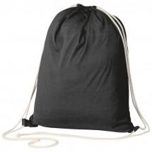 ÖKO-Tex zertifizierter Gymbag aus umweltfreundlicher Baumwolle ( 140g/m ) - schwarz