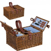 Picknickkorb für 4 Personen - braun