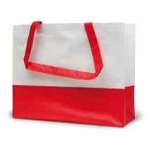 PP-Einkaufstasche Roma 2 Farben - weiss/rot