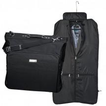 Kleidersack mit Metallschild - schwarz