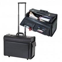 Akten-/Pilotenkoffer-Trolley - schwarz
