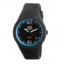 Armbanduhr LOLLICLOCK-FRESH BLACK LIGHT BLUE