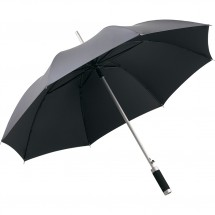 AC-Alu-Stockschirm Windmatic - grau-metallic/schwarz
