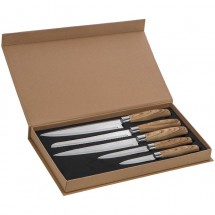 5er Messer Set - grau