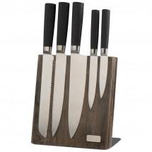 Messerblock mit 5 verschiedenen Messern - schwarz