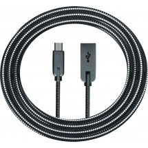 Metal Micro Cable - schwarz/silber