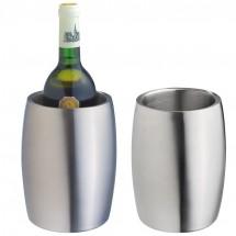 Weinkühler aus Edelstahl, doppelwandig - grau