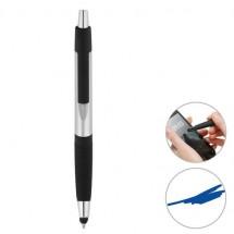 Touchscreen-Druckkugelschreiber - silber/schwarz