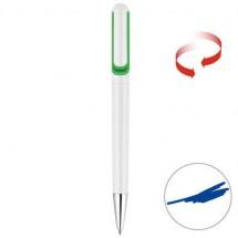 Drehkugelschreiber - weiß/grün