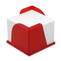 Zettelbox mit 2 Papierentnahmen - gefrostet rot
