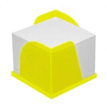 Zettelbox mit 2 Papierentnahmen - gefrostet gelb