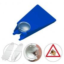 Zeckenentferner mit Lupe - blau