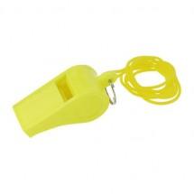 Trillerpfeife mit Umhängekordel - gelb