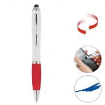 Touchscreen-Drehkugelschreiber - weiß/rot