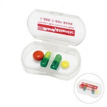 Pillendose - gefrostet glasklar