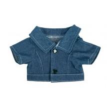 Jeans-Jacke für Plüschtiere Gr. M - dunkelblau