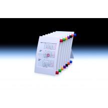 Tischkalender Vision für 2 Jahre 6-sprachig - weiß