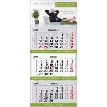 Mehrblock-Wandkalender Classic 3-rot