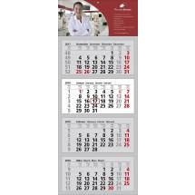 Mehrblock-Wandkalender Clever 4-schwarz