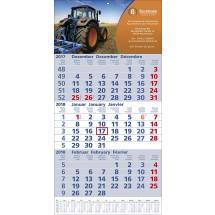 Papierwandkalender Top 12 - blau / rot