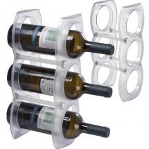 Weinregal aus Kunststoff für 3 Flaschen - weiss
