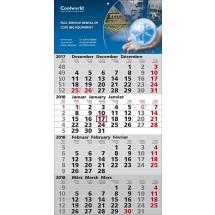 1-Block-Wandkalender Quattro-schwarz