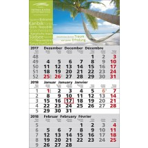 1-Block-Wandkalender Standard 2-schwarz