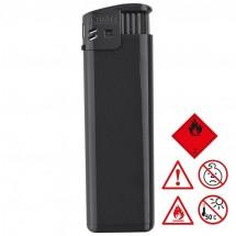 Elektronik-Feuerzeug, nachfüllbar - schwarz