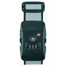 thanxx® Koffergurt TSATravel silber/schwarz - schwarz / silber
