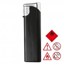 Elektronik-Feuerzeug nachfüllbar - schwarz