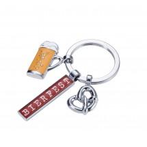 Schlüsselanhänger mit Karabinerhaken TROIKA BIERFEST - mehrfarbig