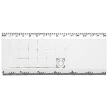 Lineal mit Schiebe-Puzzle Slidy - weiss