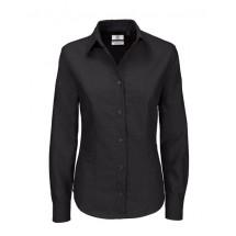 Oxford Shirt Long Sleeve / Women - Black