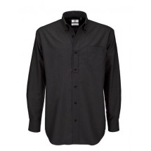 Shirt Oxford Long Sleeve /Men - Black