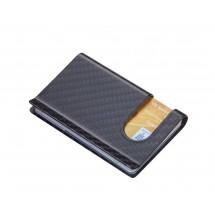 Kreditkartenetui komplett aus 3K Carbon CARBON CASE - grau, schwarz