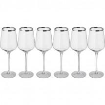 Set aus 6 Weißweingläsern - transparent