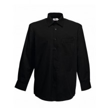 Men´s Long Sleeve Poplin Shirt - Black