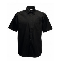 Men´s Short Sleeve Poplin Shirt - Black
