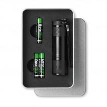LED Taschenlampe LED PLUS - schwarz