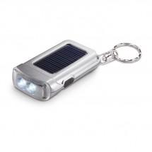 Schlüsselring mit Taschenlampe RINGAL - silber matt
