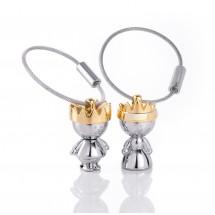 Schlüsselanhänger LITTLE KING & LITTLE QUEEN - gold, silber