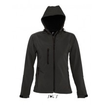 Womens Hooded Softshell Jacket Replay - Black