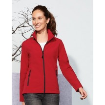 Womens Softshell Zip Jacket Race - Pepper Red