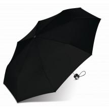 Mini Alu light Taschenschirm, schwarz