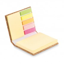 Notizblock-Set mit Kork VISIONCORK - beige
