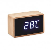 LED Tisch Uhr Bambus MIRI CLOCK - holzfarben