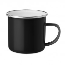 Emaillierter Metall-Becher PLATEADO - schwarz