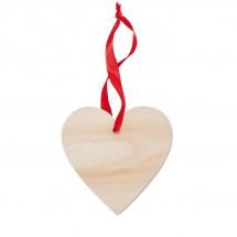 Anhänger Herz WOOHEART - holzfarben