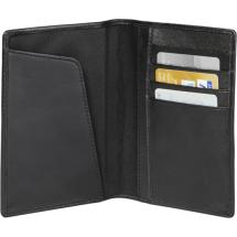 RFID Reisepass- Lederetui - schwarz
