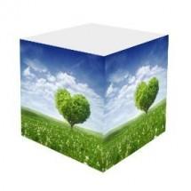 Notizquader 98 x 98 x 98 mm | Natur mit Baum in Herzform© Maksim Samasiu - Fotolia.com